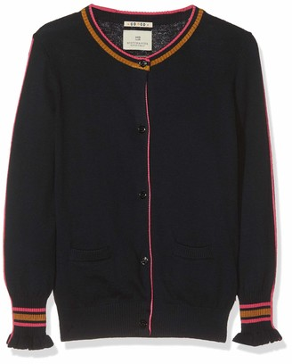 Scotch & Soda Girl's Cardigan with Ruffle Cuffs