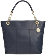 Tommy Hilfiger Pebble Leather Top-Zip Tote