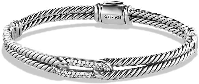 David Yurman Petite Pavé Labyrinth Mini Loop Bracelet with Diamonds