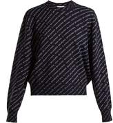 Balenciaga Crew-neck wool-blend sweater