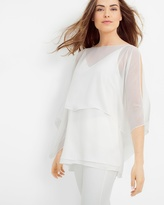 White House Black Market Convertible Layered Blouse