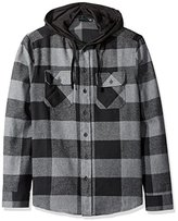 Burnside Men's Carlton Cotton Plaid Flannel Hooded Jacket