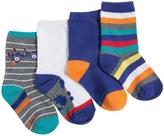 Stride Rite Lightweight Socks - 4-Pack, Crew (For Little Boys)