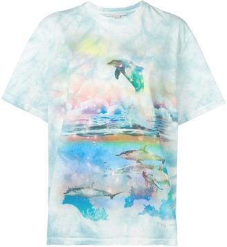 Stella McCartney dolphin print T-shirt