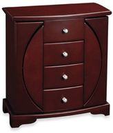 Bed Bath & Beyond Mele & Co. Oval Cut-Out Upright Jewelry Box - Simone - Mahogany