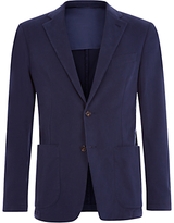 Aquascutum Lambourn Garment Dyed Moleskin Slim Fit Suit Jacket, Navy