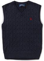 Ralph Lauren Little Boys 2T-7 Cable-Knit Sweater Vest
