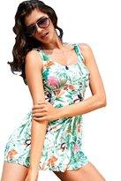 Moonbasa Hot Women's Swimwear Vest 2 Piece Swimsuits Sexy Swim Skirt High Waist Tankinis (S, )