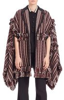 Burberry Oversized Jacquard Blanket Stripe Cape