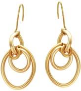 Lily Flo Jewellery Cherish Interlocking Solid Gold Drop Earrings