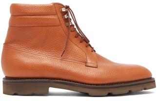 John Lobb Alder Lace Up Leather Boots - Mens - Tan