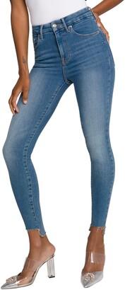 Good American Good Legs High Waist Raw Step Hem Skinny Jeans