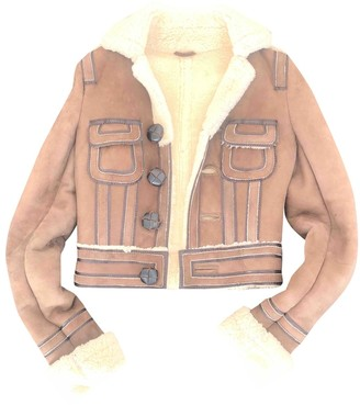 DSQUARED2 Camel Leather Coat for Women