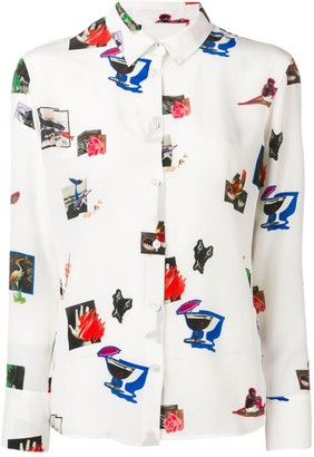 Paul Smith Paul's Scrapbook print shirt