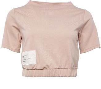 Reebok Classics Womens Advanced Crop T-Shirt Bare Beige