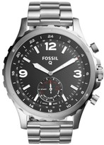 Men's Fossil Q Nate Bracelet Hybrid Smart Watch, 50Mm