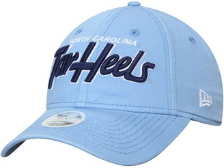 New Era Women's Carolina Blue North Carolina Tar Heels Retroscript 9TWENTY Adjustable Hat