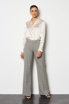 Karen Millen Check Straight Leg Trouser