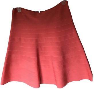 Herve Leger Orange Skirt for Women