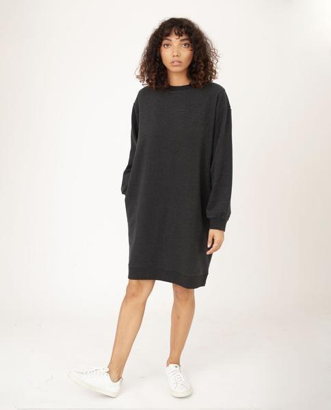 Beaumont Organic Agatha Organic Cotton Dress In Grey Marl - Grey Marl / Large