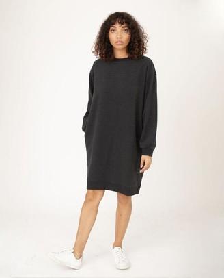 Beaumont Organic Agatha Organic Cotton Dress In Grey Marl - Grey Marl / Extra Small