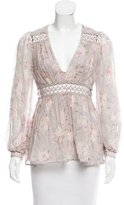 Zimmermann Printed Silk Blouse