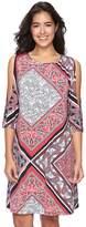 Ronni Nicole Women's Paisley Cold-Shoulder Shift Dress