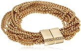 """Kenneth Cole New York Flat Mate"""" Pave Multi Row Gold Bracelet"""