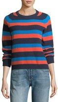 Kule Royce Striped Crewneck Cashmere Sweater
