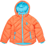 U.S. Polo Assn. Hot Coral Hot Coral Pocket Hooded Puffer Coat - Girls