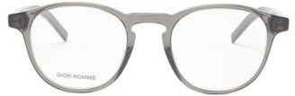 Dior Homme Sunglasses - Blacktie Round Acetate Glasses - Grey