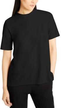 Eileen Fisher Mock-Neck Short-Sleeve Top