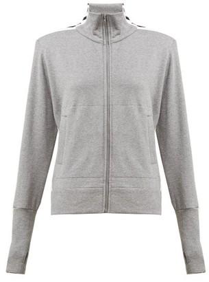 Norma Kamali Side-striped Cotton-blend Track Jacket - Womens - Grey