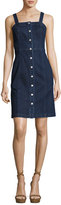 AG Adriano Goldschmied Sydney Sleeveless Button-Down Denim Dress, Indigo