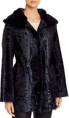 Maximilian Furs Persian Lamb Shearling Coat with Mink Fur-Lined Hood - 100% Exclusive