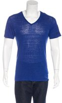 Gucci Linen V-Neck T-Shirt