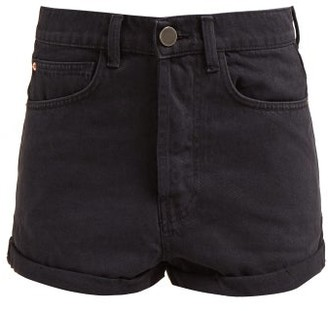Raey Low Cut-off Denim Shorts - Black
