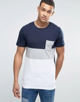 Jack and Jones Core Color Block T-Shirt With Pocket