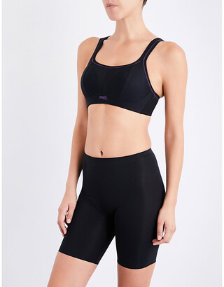 Panache Non-wired mesh and jersey sports bra