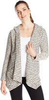 Calvin Klein Women's Crochet Knit Flyaway Cardigan Sweater