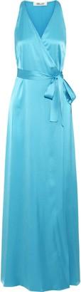 Diane von Furstenberg Satin Maxi Wrap Dress