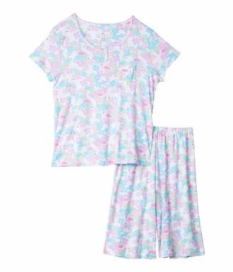 Karen Neuburger Women's Top and Bermuda Pant Bottom Pajama Set Pj