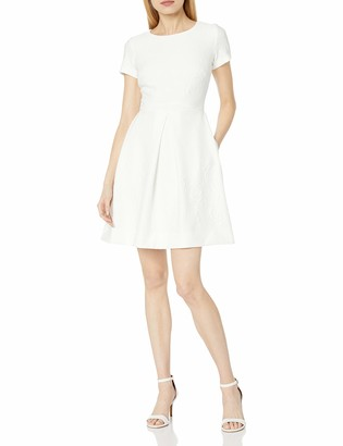Taylor Dresses Women's Fit and Flare Stretch Knit Jacquard Dress