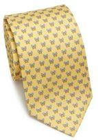 Salvatore Ferragamo Batty Butterfly Printed Silk Tie