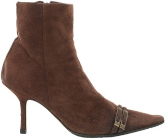 Christian Dior Brown Suede Ankle boots
