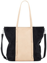 Urban Originals Afterglow Faux-Leather Tote Bag, Black/Nude