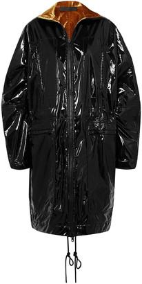 Haider Ackermann Velvet-lined Glossed-shell Coat