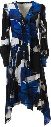 Alexander McQueen Long Rose Print Dress