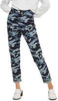Topshop Moto Camouflage Diamante Mom Jeans