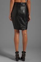 Alexander Wang Lightweight Leather Back Flutter Skirt